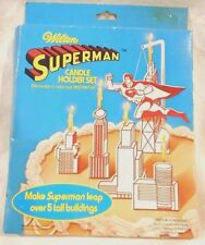 Wilton 1979 Superman Candle Holder Set Decorate a Cake Instantly
