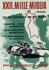 1955 XXII Mille Miglia Porsche Vintage Race Poster