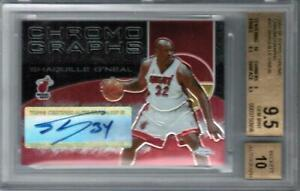 SHAQUILLE O'NEAL 2004-05 TOPPS CHROME AUTO AUTOGRAPH BGS 9.5