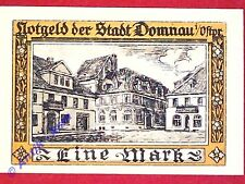Notgeld Domnau , 1 Mark , verschlungene Kreise , Mehl Grabowski 280.2 , kfr./unc