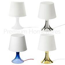 IKEA LAMPAN Table Lamp with Shade (Blue/Gold/Silver) + Optional LED Bulbs