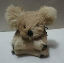 vintage Stuffed Koala Bear * Australia* Real Kangaroo fur * Glass Eyes