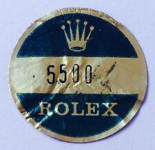ROLEX VINTAGE Caseback Certificate Sticker 5500 Airking Air King