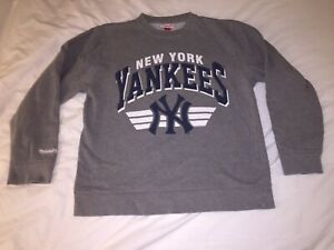 Mitchell and Ness New York Yankees Gray Sweater Men's Large