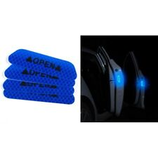 4pcs Super Blue Car Door Open Sticker Reflective Tape Safety Warning Decal POWER