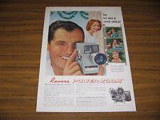 1960 Print Ad Revere Power Zoom Movie Cameras Chicago,Los Angeles