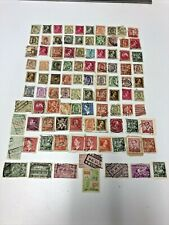 Vintage Belgium Stamp Collection (Lot Of 98)