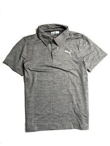 Puma Boy's  Essential Pounce Polo  Shirt (Charcoal Heather )