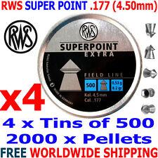 RWS SUPERPOINT EXTRA .177 4.50mm Airgun Pellets 4 tinsx500pcs (HUNTING PELLETS)