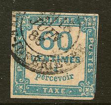 FRANCE: 1878 POSTAGE DUE 60c blue SG D217 used