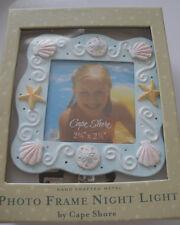 Photo Frame Night Light Sea Shells Cape Shore NEW