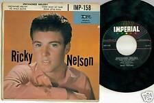 Ricky Nelson 45 ep Unchained Melody Imp 158 w/pic cover