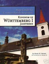 Württemberg  Jagstkreis Map Guide to German Parish Reg.