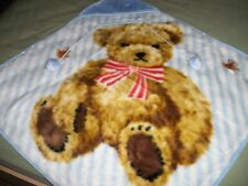 Adorable Bear Hoodie Baby Soft Mink blanket Brand New