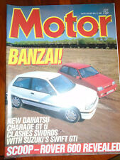 Motor 9/5/87 Daihatsu GTti vs Suzuki GTi