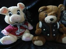 "A Pair of Harley Davidson Bean Bag Plush - ""Motorhead & Racer"""