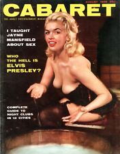 Jayne Mansfield: on Cover of Cabaret Adult Magazine  Aug.1956