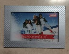 SILVER WITH WHITE DOTS MAGNETIC SNOW PHOTOFRAME, Shot2Go