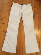 Abercrombie And Fitch Ladies Beige Cotton Boot cut Pants Trousers US 4 ( Aus 8)
