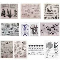 14Styles Silicone Clear Rubber Stamps Seal Scrap booking Album Card Diary Crafts