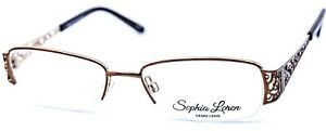 Sophia Loren Zyloware Women's Eyeglasses Optical Frame M237 183 Brown 52-17-135