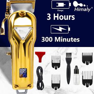 Professional Hair Clippers Men's Basic Barber Set Cordless Trimmer Shaver Kit UK