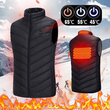 Men Women Electric Vest Heated Cloth Jackets USB Warm Up Heating Pad Body Warmer