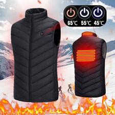 Men Women Electric Vest Heated Cloth Jackets USB Warm Up Heating Pad Body Warmer