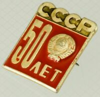 50 years USSR Badge Soviet Pin Brass Enamel