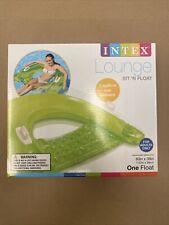 Intex Sit N Float Inflatable Lounge Green Adult Water Chair Pool Float