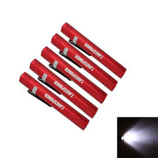 TANGSPOWER 5 Pcs 3w AAA 1Mode Mini Pen-type Led Flashlight Torch Lamp Red New
