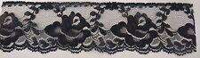 "10 yards black double scalloped gorgeous floral lace trim 2.5 "" USA SHIPPER L7-5"
