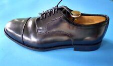 EUC Nunn Bush Mens Black All Leather Cap Toe Oxfords Shoes 11 W