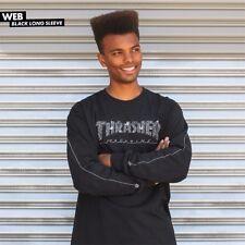 Thrasher Magazine Web Logo Long Sleeve Skateboard Shirt Black Xl