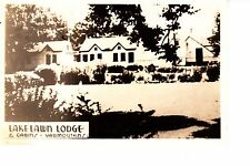 Yarmouth, Nova Scotia   Lakelawn Lodge RPPC 1940s