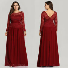 Ever-Pretty Womans Lace Plus Size Long Evening Party Dress Prom Dress Ball Gowns
