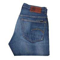 G-star 3301 Gerade Blau Herren Jeans Größe 32/34