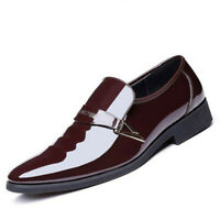 Men Oxfords Leather Shoes Formal Dress Business Party Pointed Toe Casual Loafers