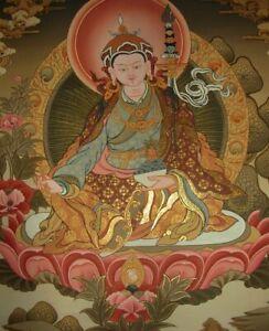 Besonders feines Buddha THANGKA Padmasambhava/Guru Rinpoche aus NEPAL 54x42cm