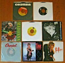 """1980's Rock Pop Lot of 8 Various Artists 7"""" 45rpm Madonna Tina Turner"""