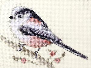 LONG TAILED TIT  Garden Bird ~ Full cross stitch kit + all materials FIDO STUDIO