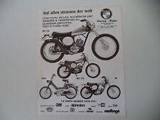 advertising Pubblicità 1975 MOTO PUCH MC 125/MC 175/MAXI/GS 50