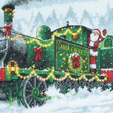 """Santa Express Counted Cross Stitch Kit-10""""X10"""" 14 Count"""