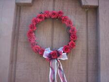 Handmade Fabric Flower wreath/Valentines day Flower wreath/Mother's day wreath