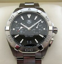 Tag Heuer Aquaracer Alarm Gents Watch Black WAY111Z RRP £1350 Boxed & Papers