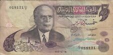 BILLET BANQUE banknote TUNISIE TUNISIA 5 DINARS 1973 état voir scan 121