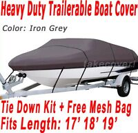 V-Hull Fish Ski I/O 17' 18' 19' Boat Trailerable Cover Color