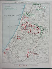 1918 WW1 MAP EGYPTIAN EXPEDITIONARY FORCE ~ ADVANCE INTO JUDEA 6pm DEC 2 1917