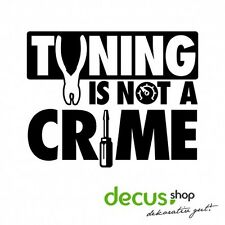 Tuning is not a crime // sticker JDM pegatinas parabrisas