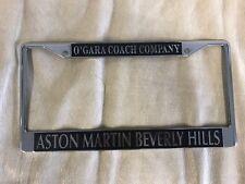 Beverly Hills Aston Martin Vintage License Plate Frame vantage db8 vanquish